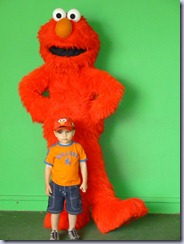 Sesame Place Munchkin and Elmo